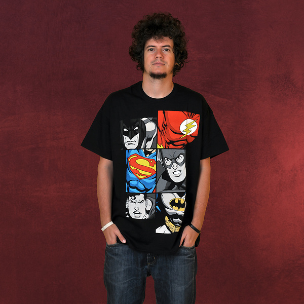Justice League - Batman, Flash, Superman at Work T-Shirt