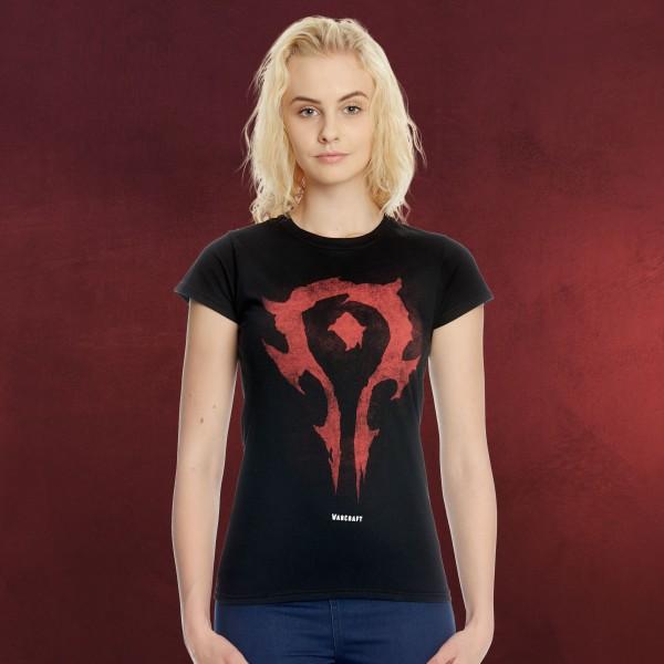 Warcraft - Horde Logo Girlie Shirt schwarz