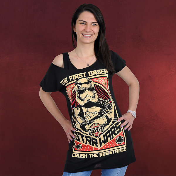 Star Wars - Crush The Resistance Girlie Shirt