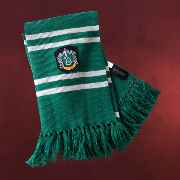 Harry Potter - Slytherin Strickschal grau-grün