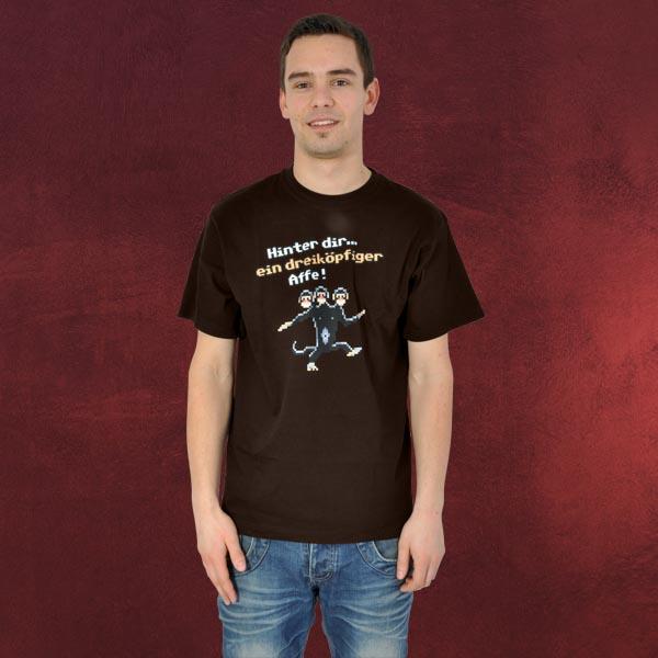 Monkey Island - Dreiköpfiger Affe T-Shirt