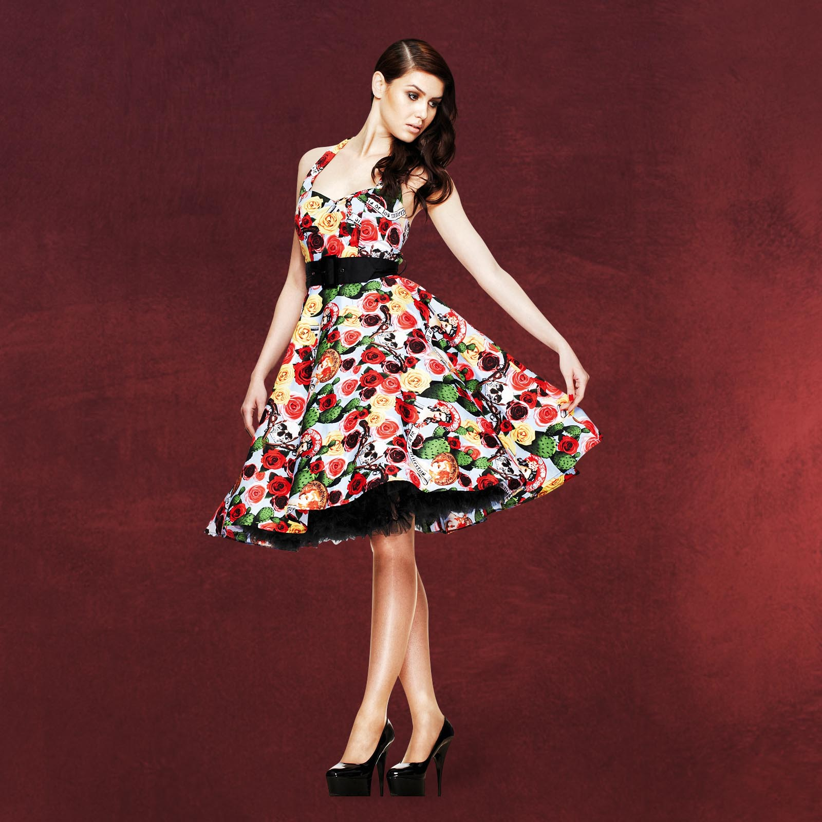 Rockabilly-Kleid Mexico | Hell Bunny | Elbenwald