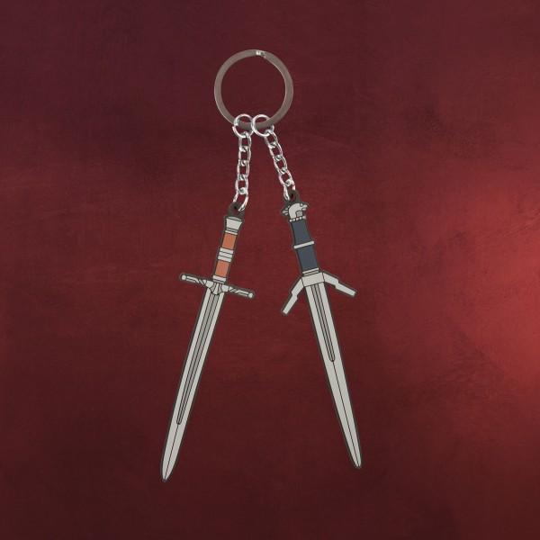 Witcher - Steel & Silver Schlüsselanhänger