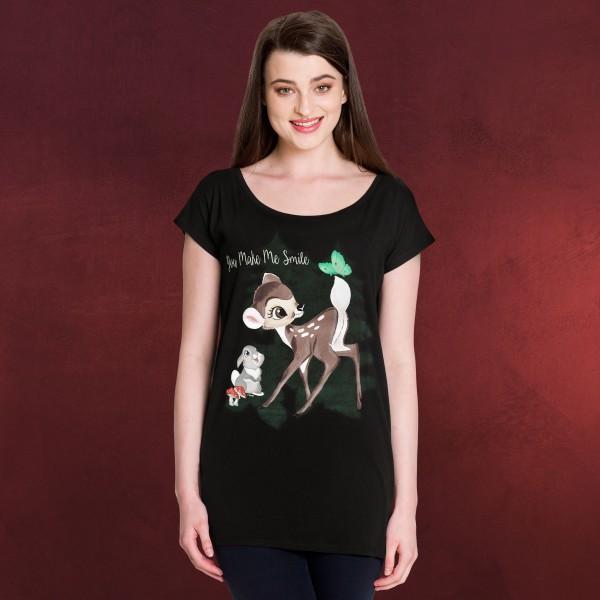 Bambi - Smile T-Shirt Damen Loose Fit schwarz