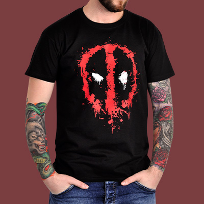 Deadpool - Splatter T-Shirt schwarz