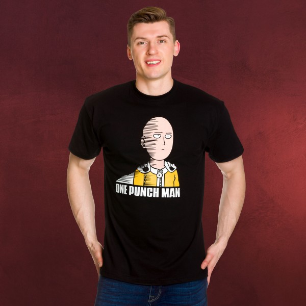 One Punch Man - Saitama Fun T-Shirt schwarz