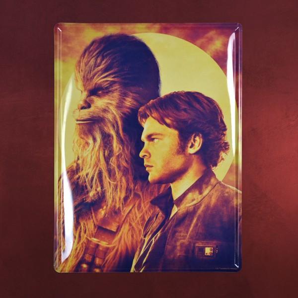 Han Solo und Chewbacca Schild - Star Wars