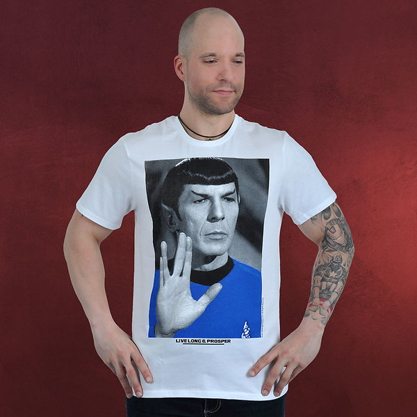 Star Trek - Mr. Spock Poster T-Shirt weiß