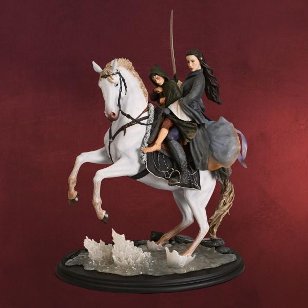 Herr der Ringe - Arwen & Frodo auf Asfaloth Figur 48 cm deluxe