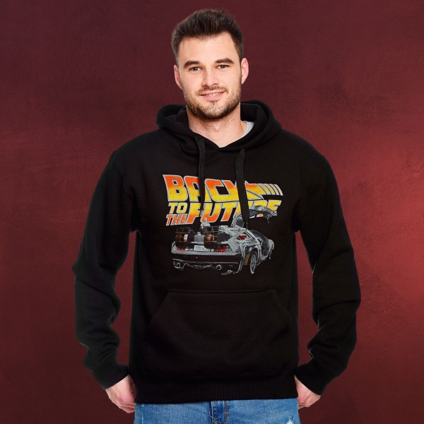 Zurück in die Zukunft - DeLorean Hoodie schwarz