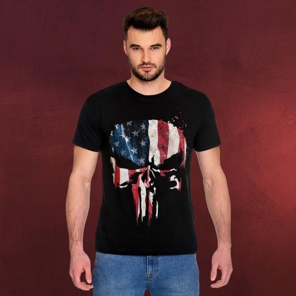 Punisher - American Skull T-Shirt schwarz