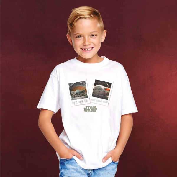 The Child First Day Out T-Shirt Kinder weiß - Star Wars The Mandalorian