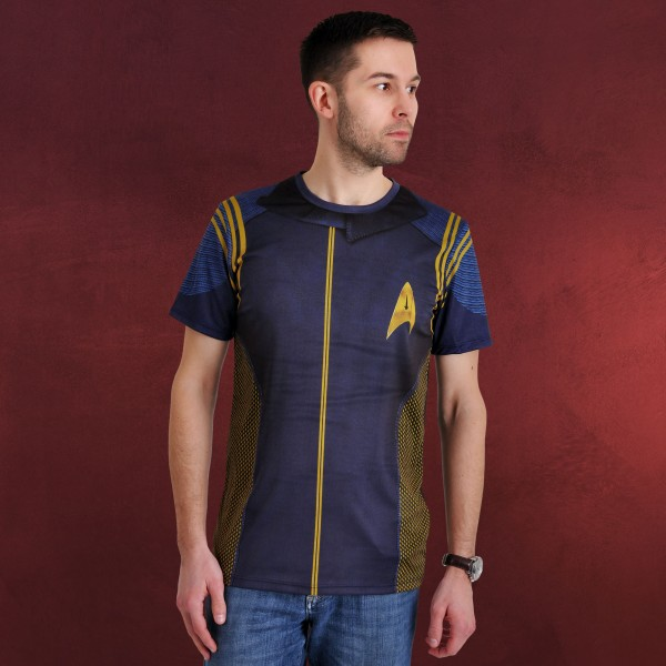 Star Trek - Discovery Commander Uniform T-Shirt blau