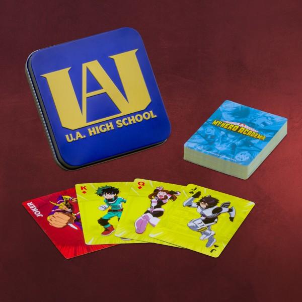 My Hero Academia Spielkarten in Metallbox