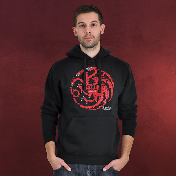 Game of Thrones - House Targaryen Hoodie schwarz
