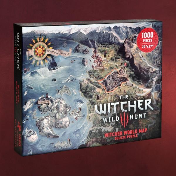 Witcher - Karte der Nördlichen Königreiche Puzzle