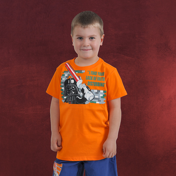 LEGO Star Wars - Darth Vaders Religion T-Shirt für Kinder orange