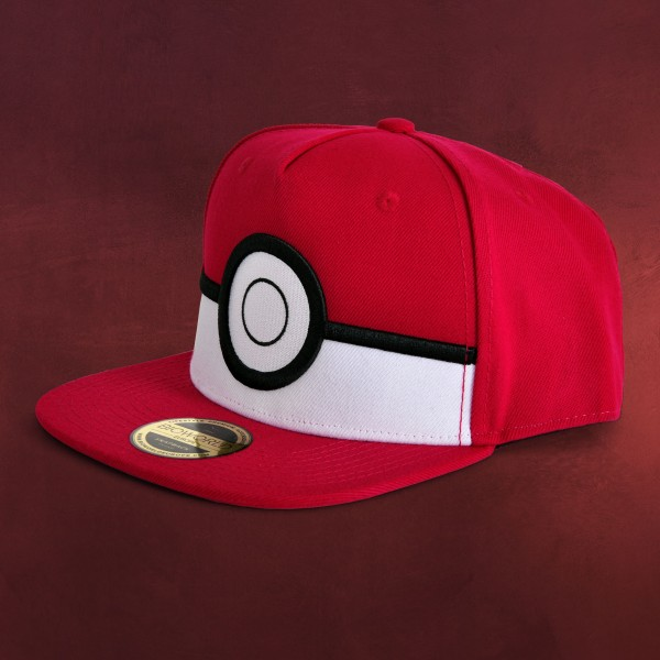 Pokemon - Pokeball Snapback Cap rot