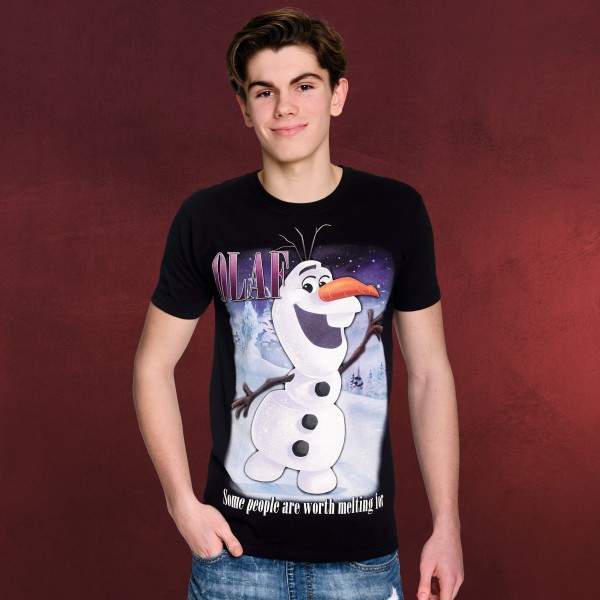 Frozen - Olaf Worth Melting For T-Shirt schwarz