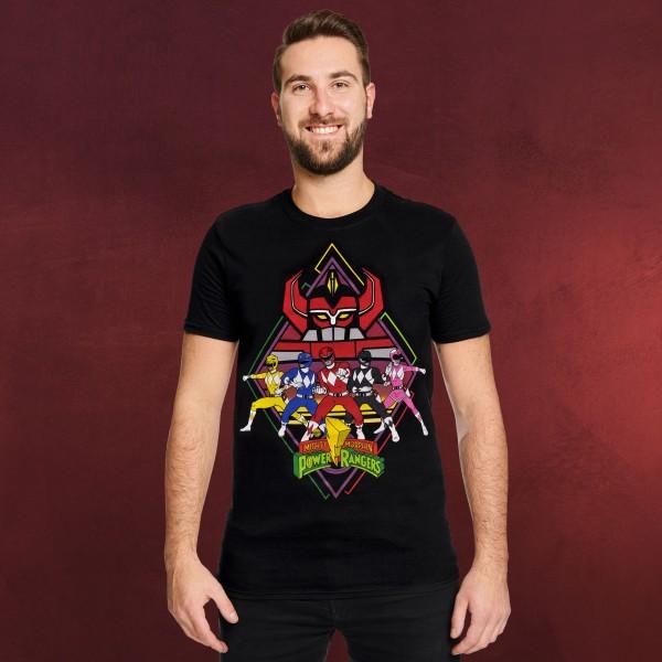 Power Rangers - Team T-Shirt schwarz