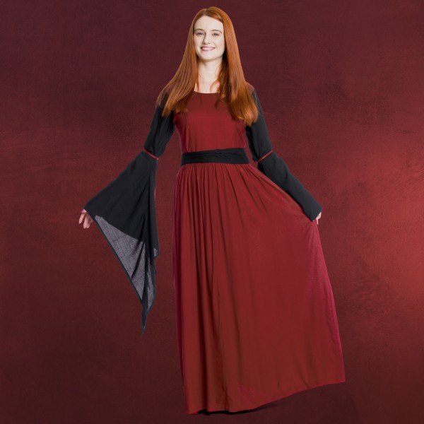 Mittelalter Kleid Dorell rot-schwarz