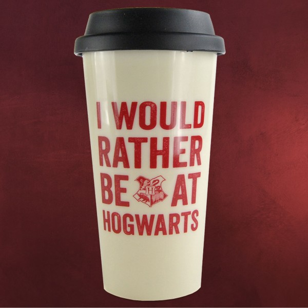 Harry Potter - Rather Be at Hogwarts To Go Becher