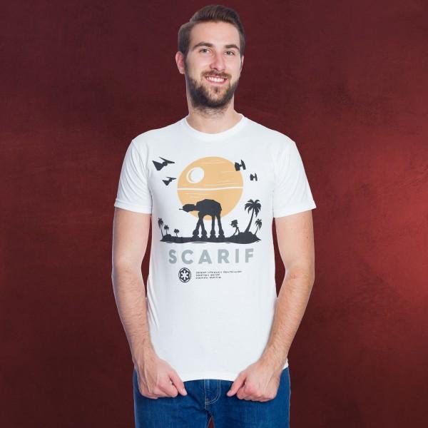 Rogue One - Scarif Star Wars T-Shirt weiß