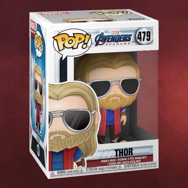 Avengers - Thor mit Sonnenbrille Endgame Funko Pop Wackelkopf-Figur