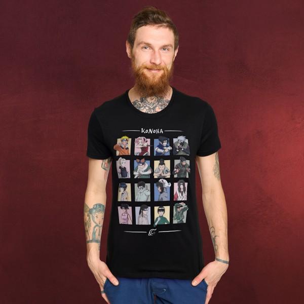 Naruto - Characters of Konoha T-Shirt schwarz