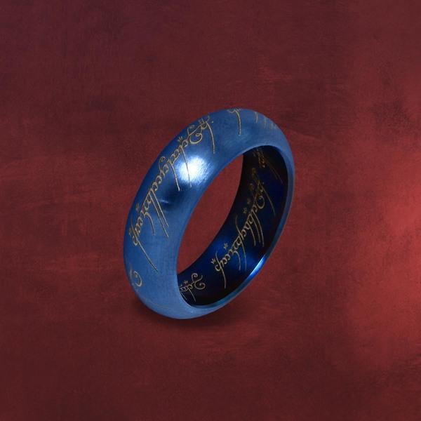 Herr der Ringe - Der Eine Ring im Schmuckdisplay, blau