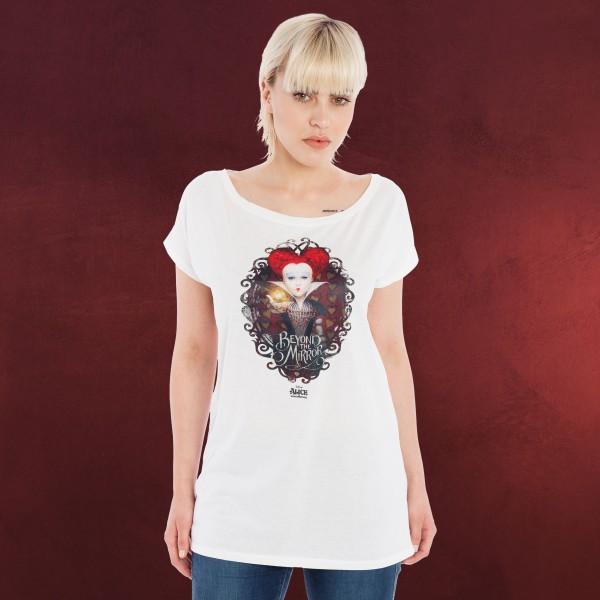 Alice im Wunderland - Herzkönigin Girlie Shirt weiß