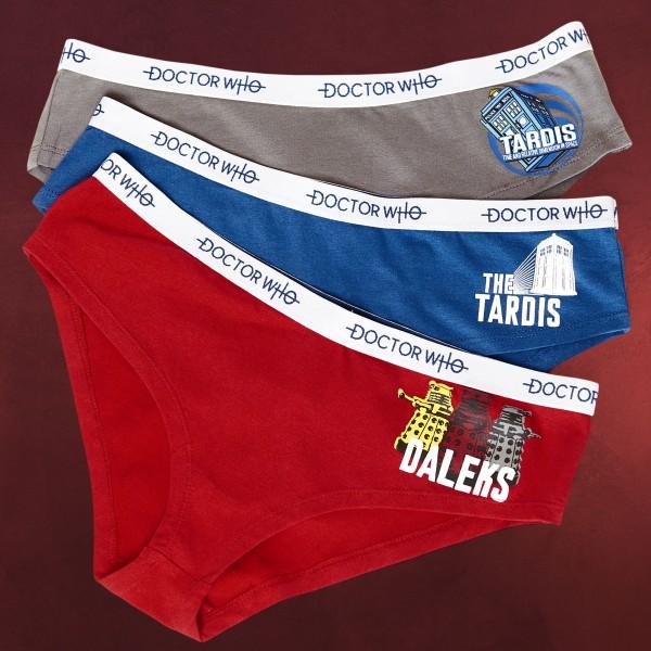 Doctor Who - Tardis & Daleks Panty-Set 3-teilig