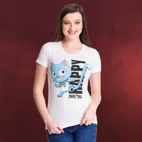 Fairy Tail - Happy Girlie Shirt weiß