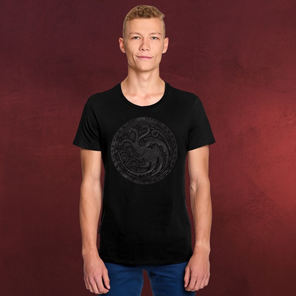 Game of Thrones - Dark Targaryen 3D Logo T-Shirt schwarz