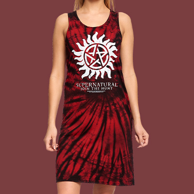 Supernatural - Anti Possession Symbol Batik Minikleid