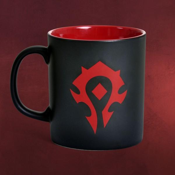 warcraft horde logo tasse schwarz rot elbenwald. Black Bedroom Furniture Sets. Home Design Ideas