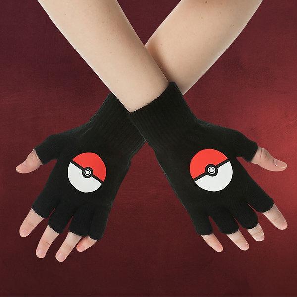 Pokemon - Fingerlose Pokeball Handschuhe schwarz