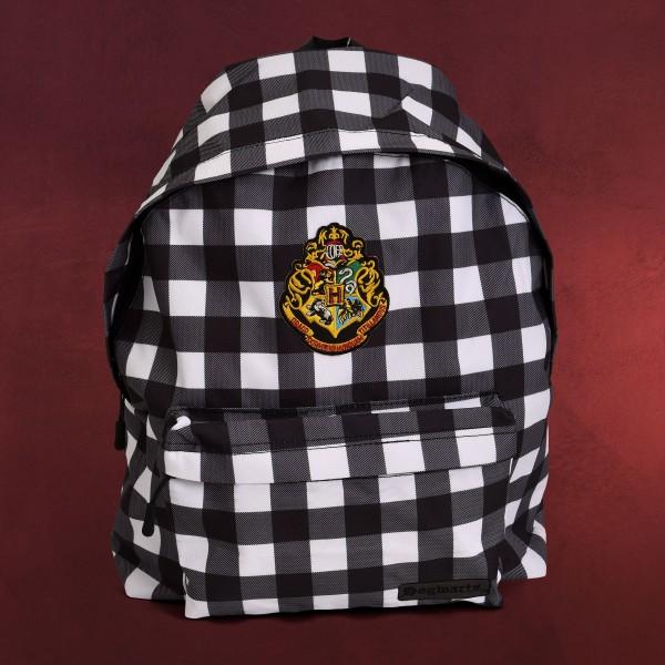 Harry Potter - Hogwarts Wappen Karo Rucksack