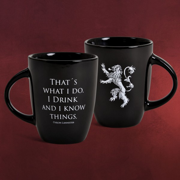 Game of Thrones - Drink And Know Noble Words Tasse schwarz
