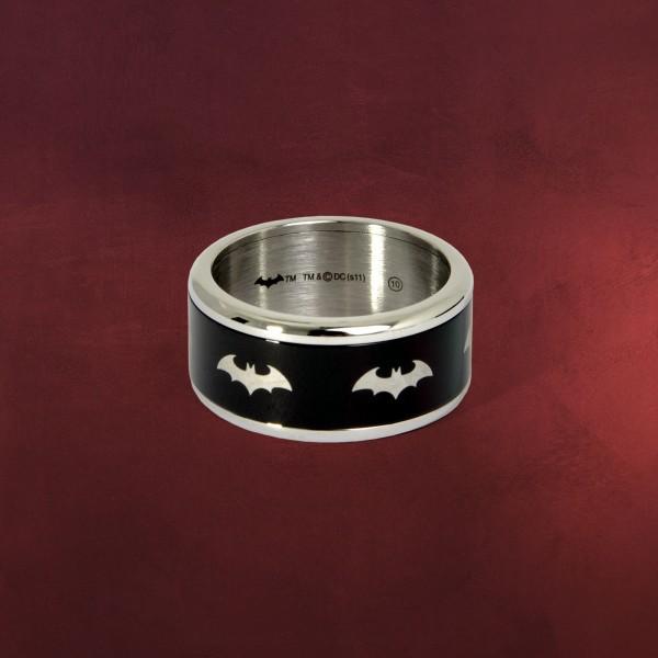 Batman Symbol Ring schwarz