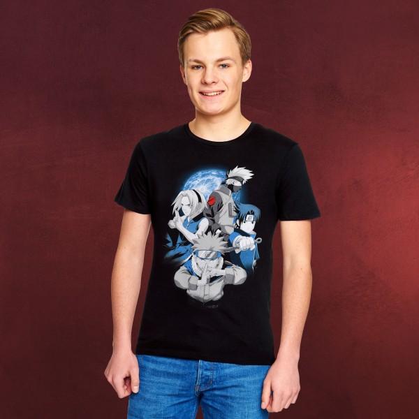 Naruto - Team 7 Group T-Shirt schwarz