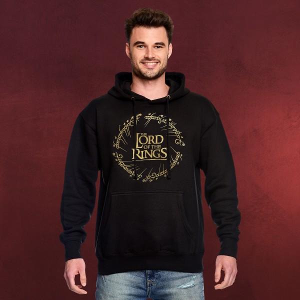 Herr der Ringe - Der Eine Ring Hoodie schwarz