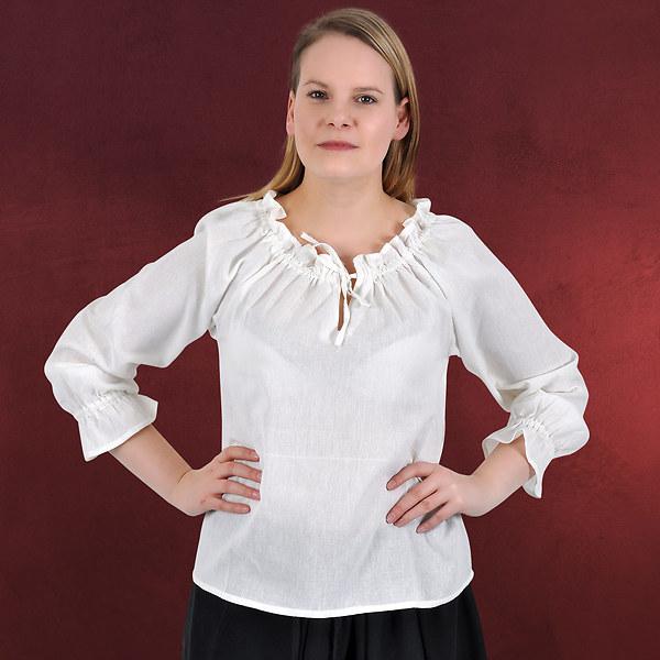 Bluse Salia Langarm weiß