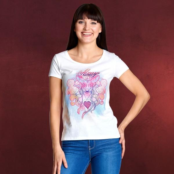 Harry Potter - Patronus Always T-Shirt Damen weiß