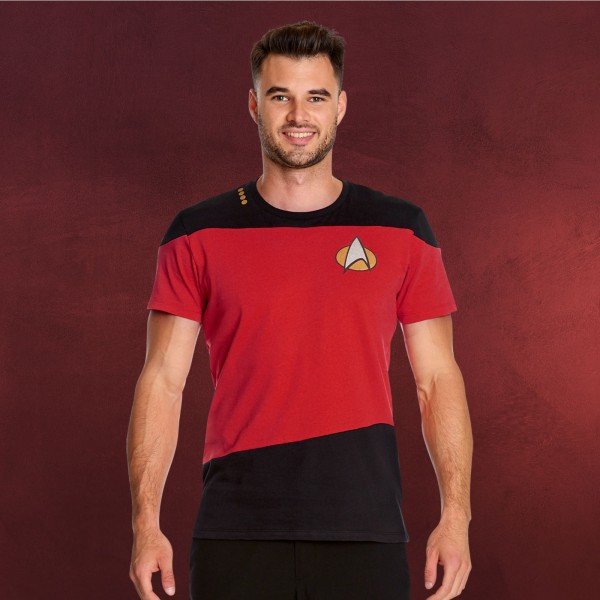 The Next Generation Uniform T-Shirt rot - Star Trek