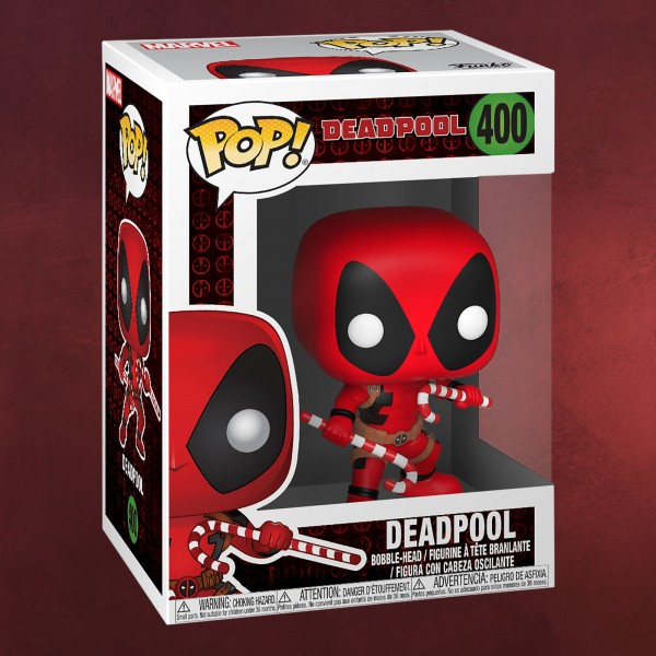 Deadpool - Christmas Funko Pop Wackelkopf-Figur