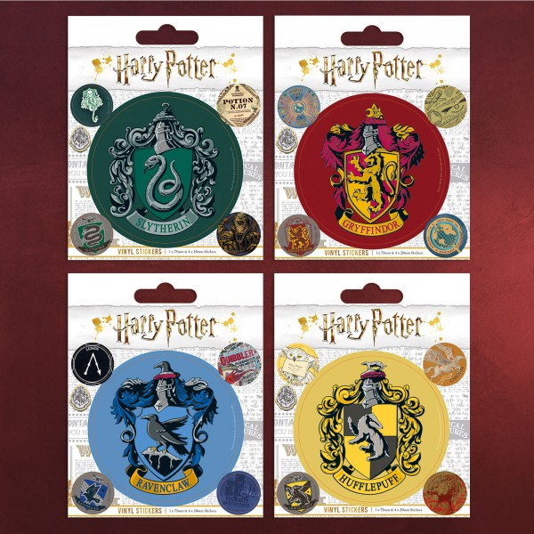 Harry Potter - Hogwarts Häuser Sticker Set