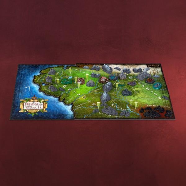 Herr der Ringe - Karte von Mittelerde 4D Puzzle