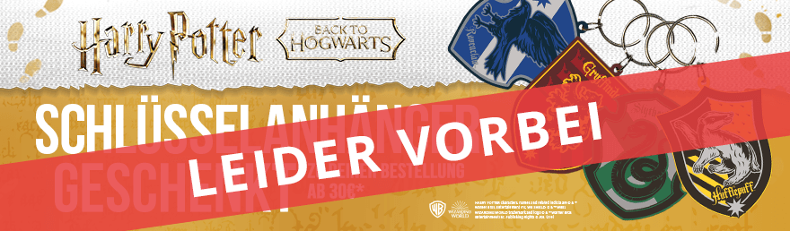 Schlüsselanhänger geschenkt zu deiner Bestellung ab 30€ mit mindestens einem Harry Potter-Artikel