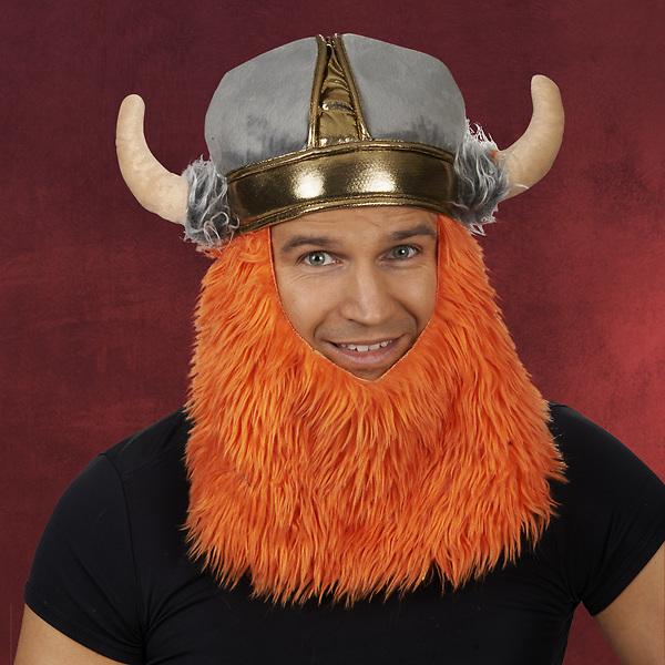 Wikinger Mütze mit Bart und Hörnern